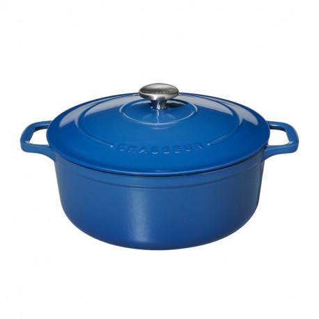 Μαντεμένια κατσαρόλα στρόγγυλη (Μπλε 41) Chasseur