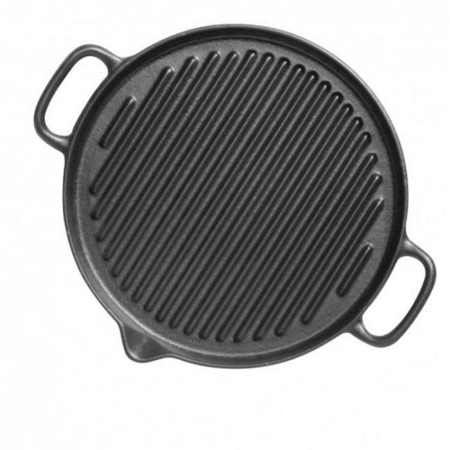 round_grill_3371 – Μαντεμένια γκριλιέρα στρόγγυλη Chasseur
