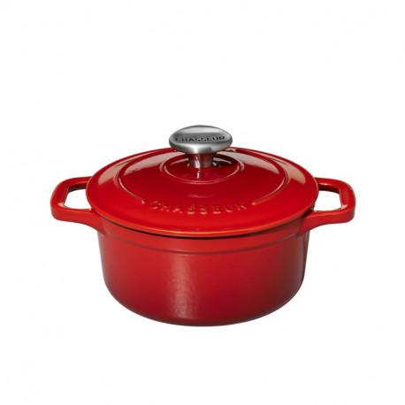 Μαντεμένια mini κατσαρόλα Chasseur κόκκινη(58)