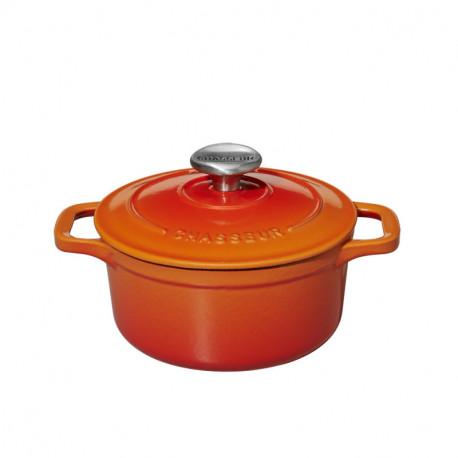 Μαντεμένια μίνι κατσαρόλα Chasseur πορτοκαλί