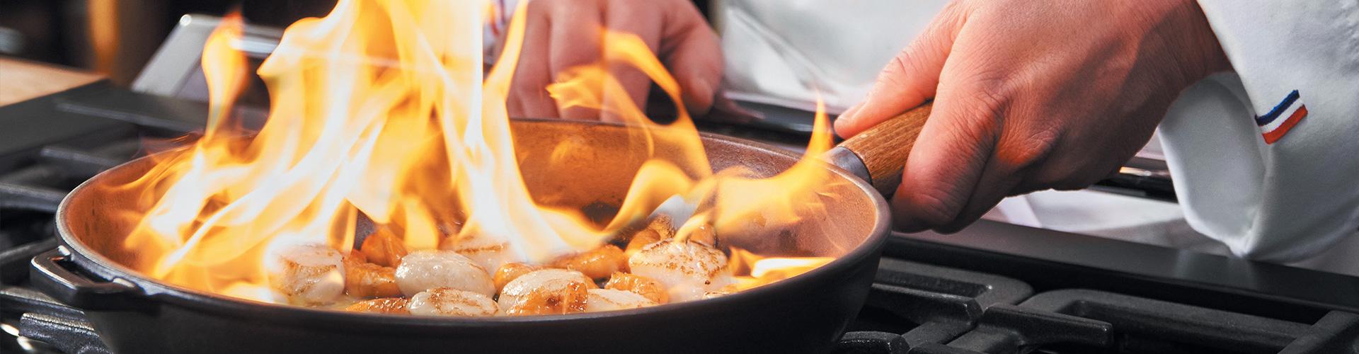 Αντικολλητικά μαντεμένια τηγάνια Chasseur