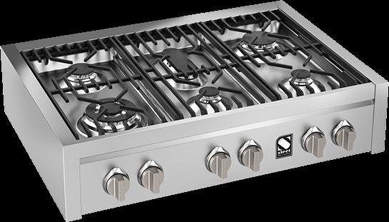Εστία αερίου Genesi 90 Steel Cucine