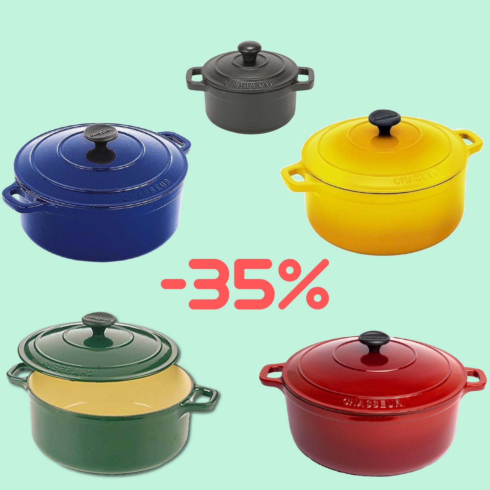 Μαντεμένια κατσαρόλα Chasseur Προσφορά -35%