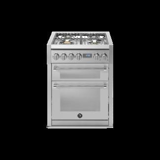 Κουζίνα ηλεκτρική - αερίου με διπλό φούρνο GENESI 70 Steel Cucine